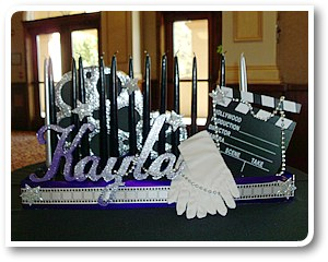 bat mitzvah candle table